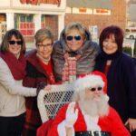 Santa with five ladies Twelve Points Tree Lighting
