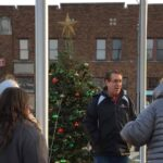 Mayor and crowd at Twelve Points Tree Lighting