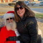 Santa and lady at Twelve Points Tree Lighting