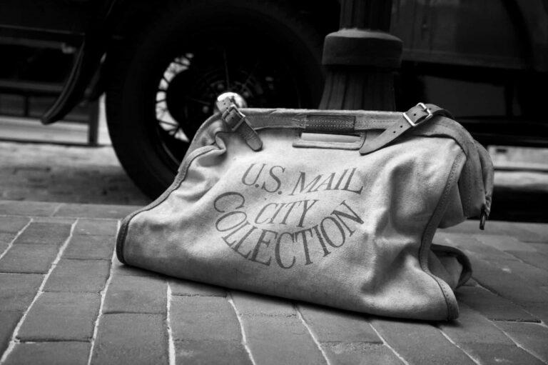 antique mailbag